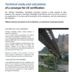 Technical study and calculation of a conveyor for CE certification