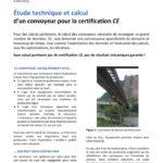 Étude technique et calcul d'un convoyeur pour la certification CE