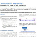 Technology of « long spacing » between the idlers of belt conveyors